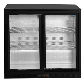 Under Counter Glass Fronted Double Door Fridge product image